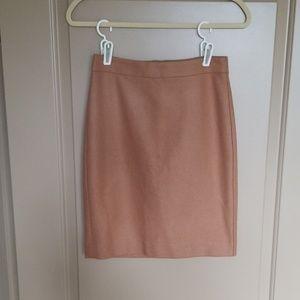NWT Jcrew Pencil Skirt Camel Color